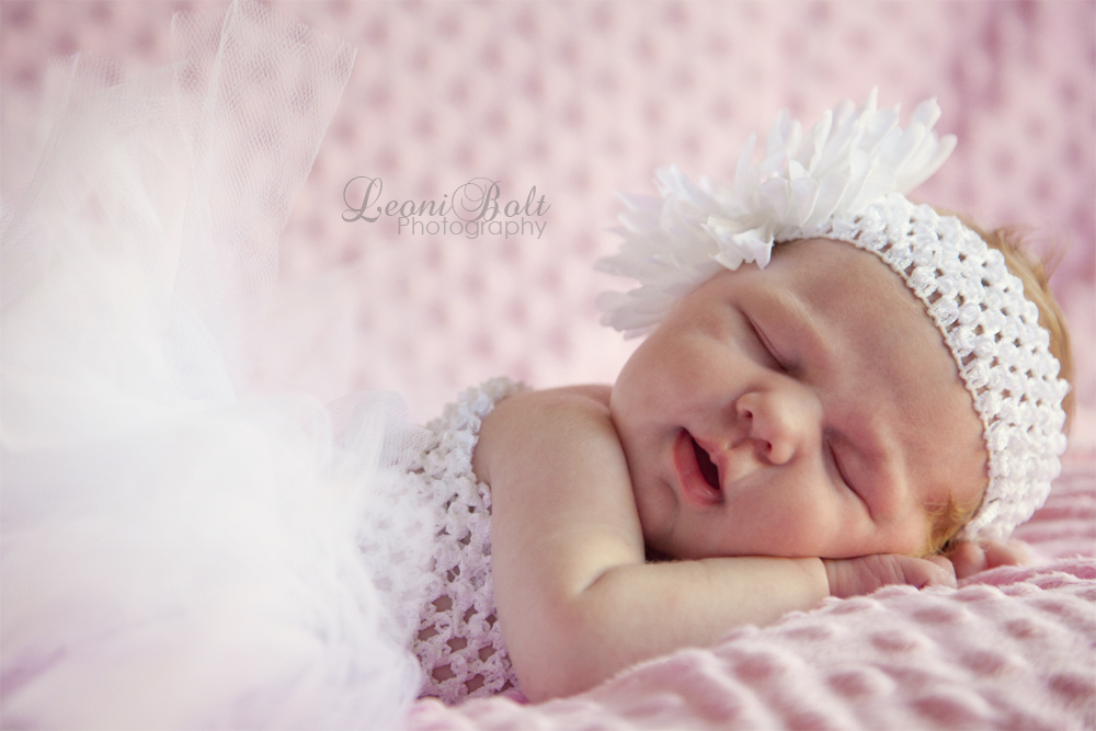 newborn girl in a tutu