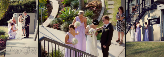 bridal party arrival