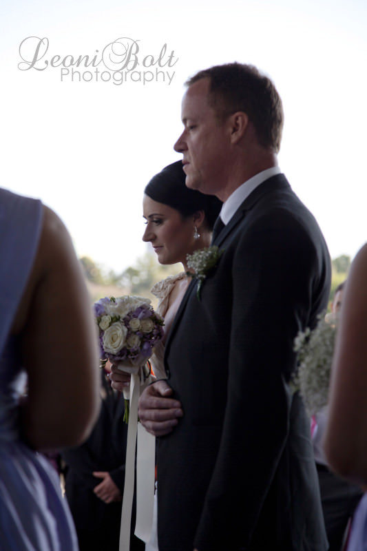 bride's father giving her away