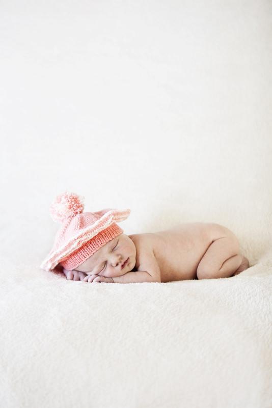 newborn in a beanie