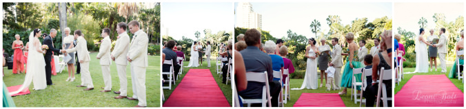 wedding ceremony Brisbane botanical gardens