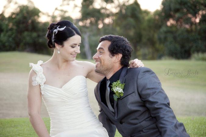 wedding couple at Victoria Park