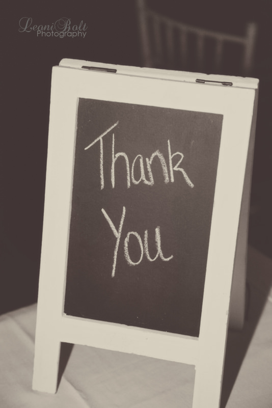 blackboard with Thank you