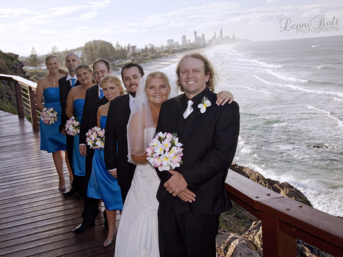 wedding photos over Burleigh Heads