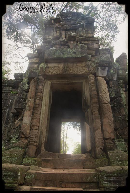 surreal sandstone entrance